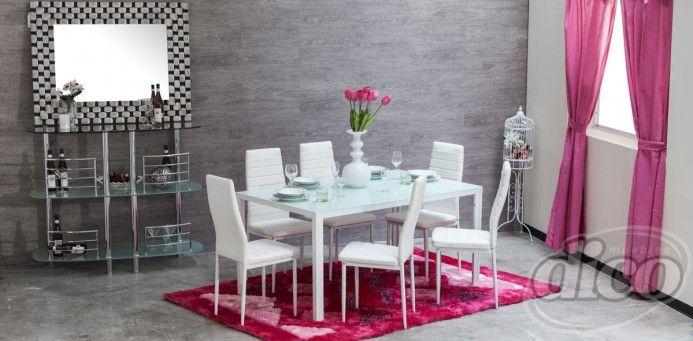 Simply comedor blanco remodelaci n e ideas para la casa for Antecomedores modernos pequenos
