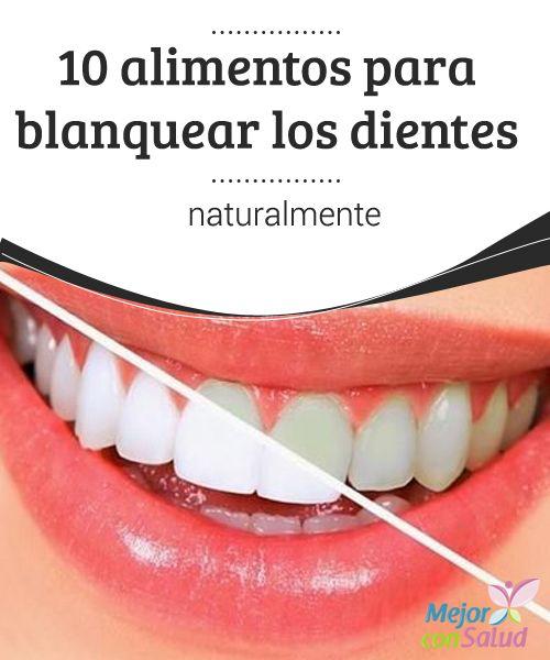 10 #alimentos para #blanquear los dientes naturalmente  Además de consumir estos alimentos, para blanquear los #dientes y evitar problemas bucales es fundamental mantener una #higiene dental adecuada y #cepillarnos los dientes después de cada comida #Curiosidades