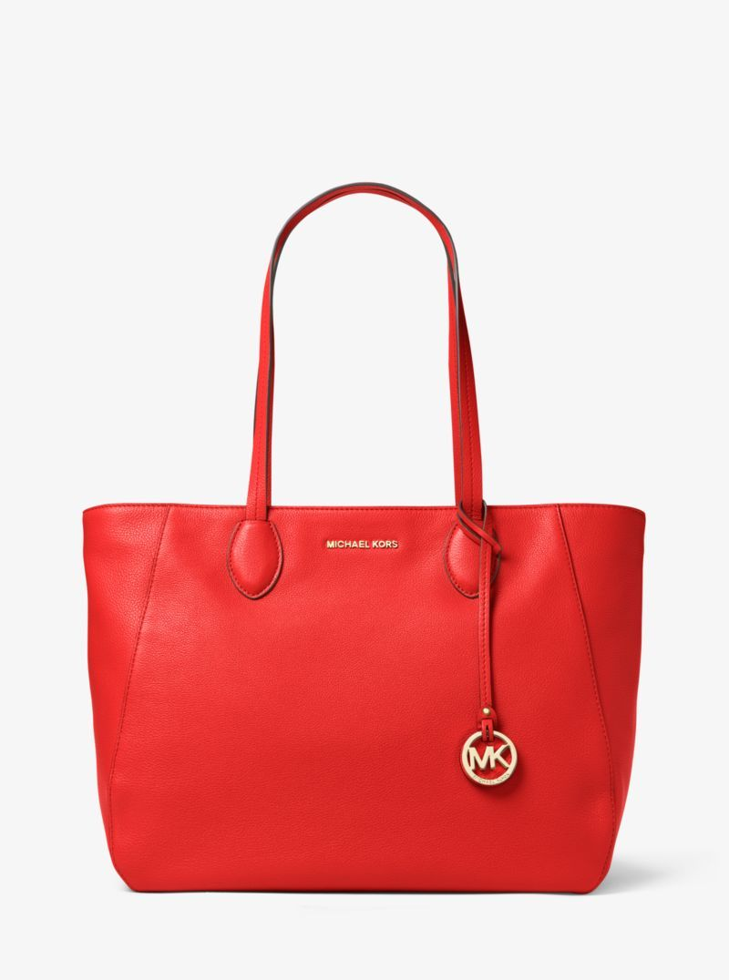 Michael Kors Ani Large Leather Tote Red 30T6GA7T3LR  804e55c351e13