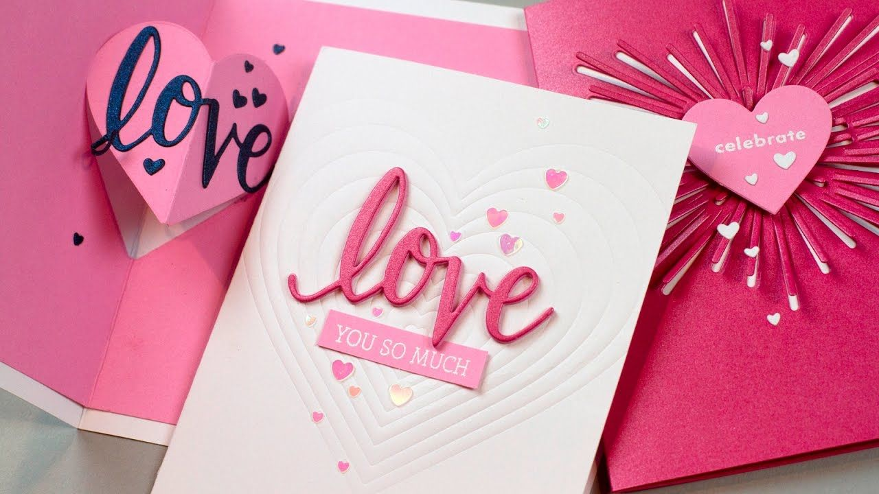 easy popup heart card  valentine day cards valentines