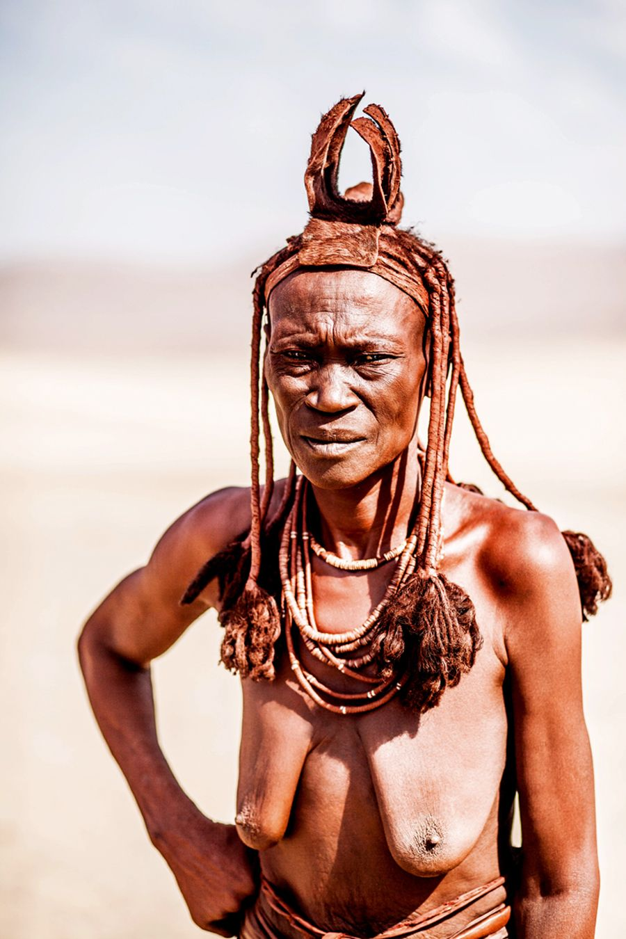 In The Desert Of Namibia Himba People African Tribal Girls