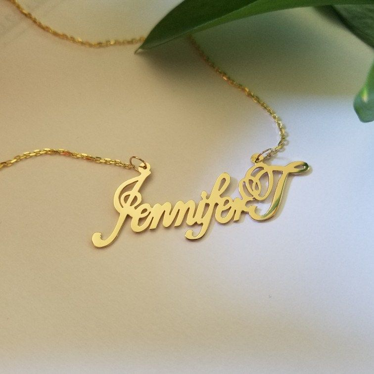 Handwriting Necklacesgold Name Necklacepersonalised Name Etsy In 2020 Necklace For Girlfriend Solid Gold Necklace Beautiful Necklaces