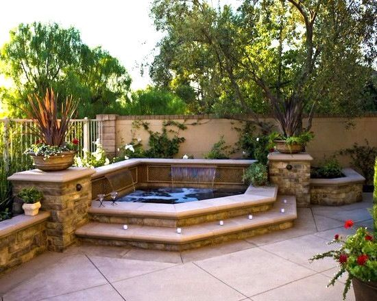 Backyard Hot Tub Ideas Impressive On Small Backyard ...