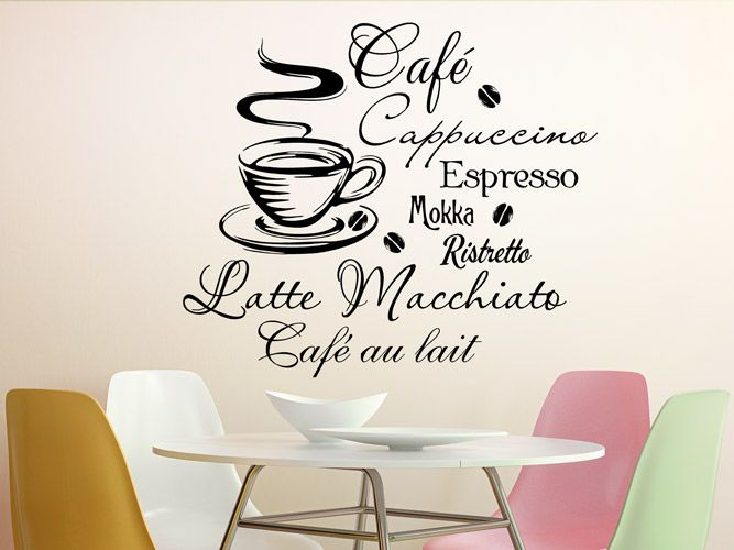 Wandtattoo Kaffee Kreativ Pinterest - wandtattoo wohnzimmer retro