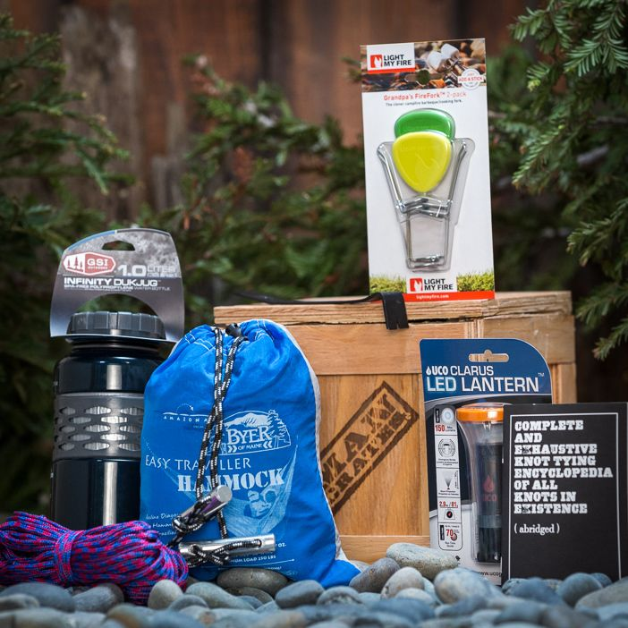 Earn your badge in relaxing outdoors with the crate outdoors gift mancrates a collection of manly gifts packed in manly packages crates cement blocks amno cans negle Image collections