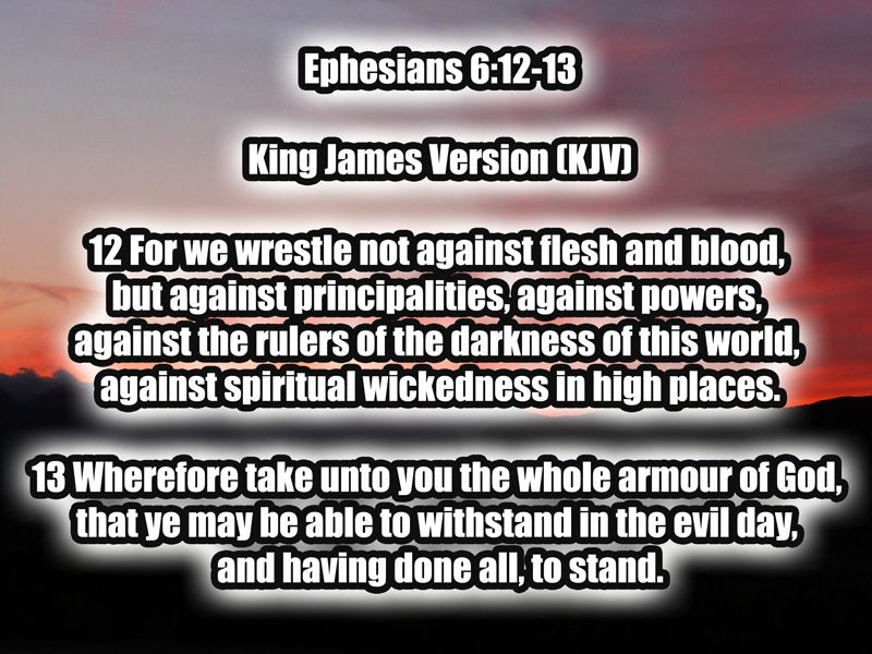 Image result for ephesians 6 12 13
