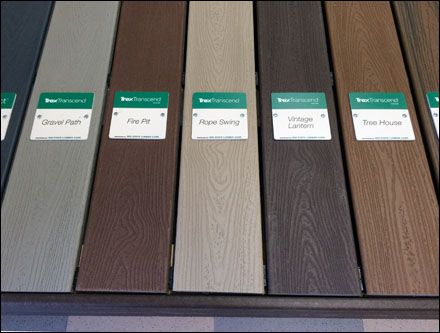 Trex Decking Colors >> Trex Color Coded Deck Display Deck Colors Deck Makeover