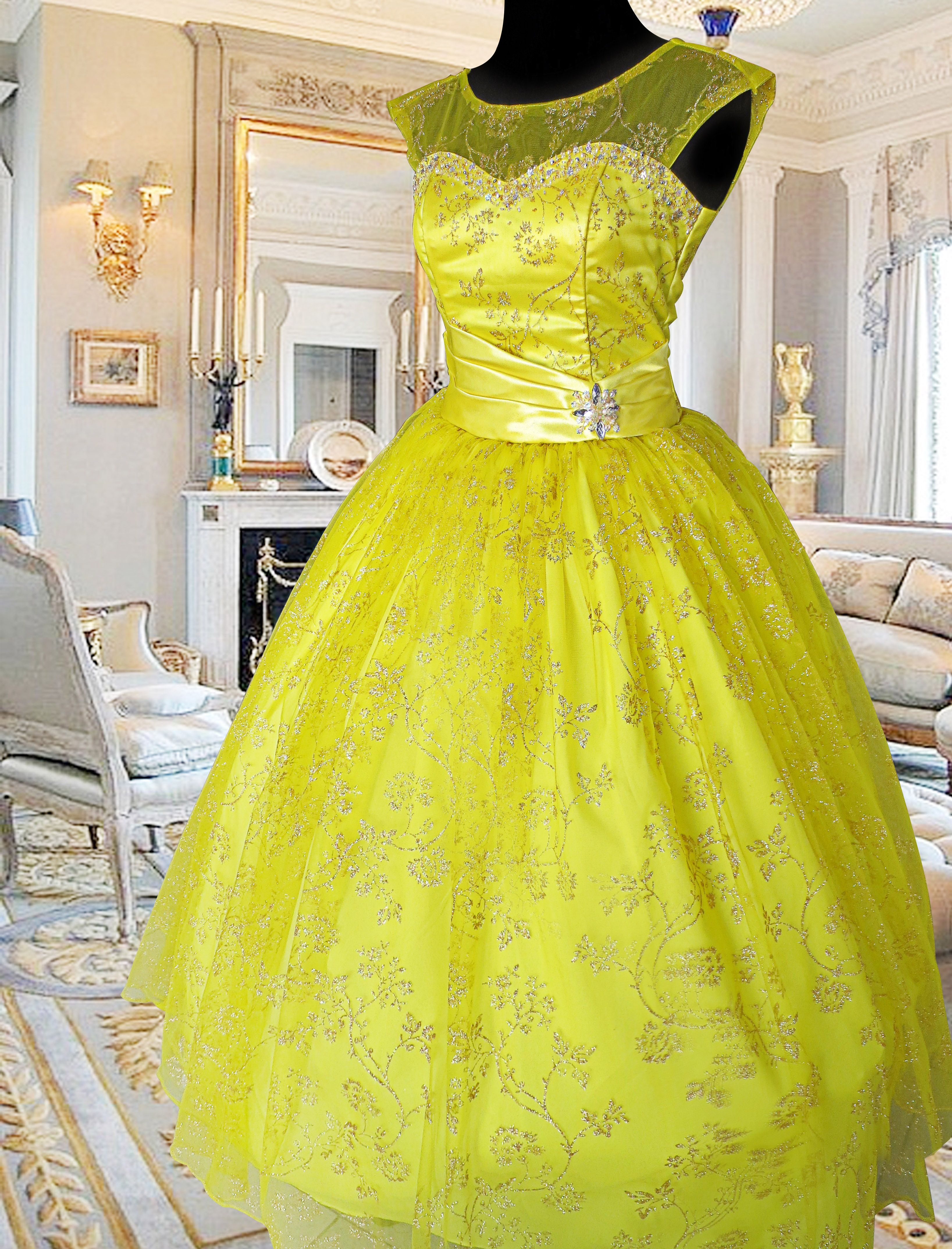Yellow Debut Ball Gown in Manila available for Rent at http://www ...