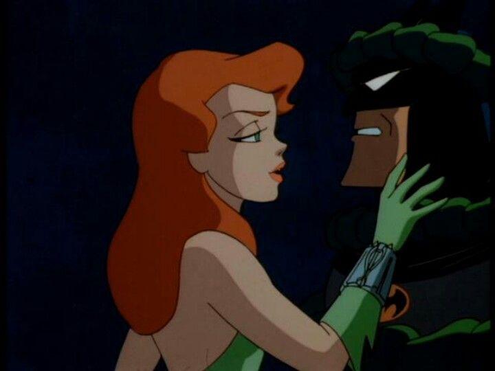 Batman Y Poison Ivy Kiss Poison Ivy Cartoon Batman The Animated Series Poison Ivy