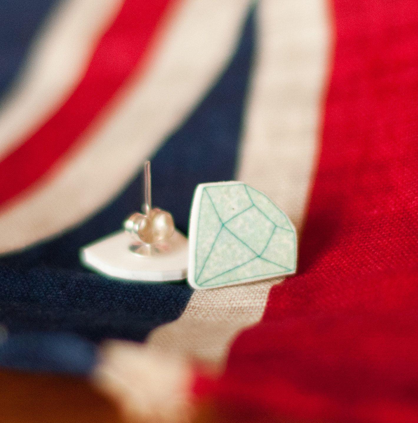Diamond earrings by JodieAnna on etsy | Crafty Shrink ...
