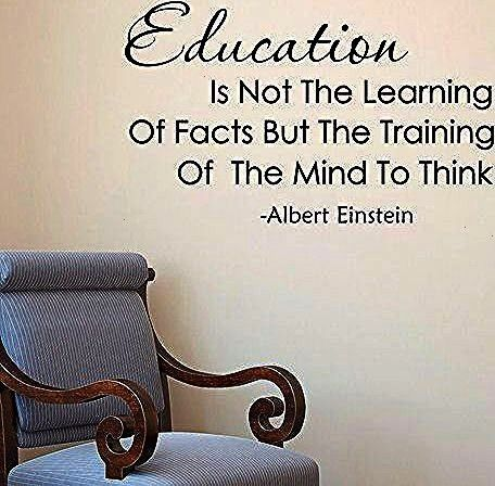 Quote Education Is Not The Learning Of Facts Wall Decals Education Quotes Learning Classroom Decor