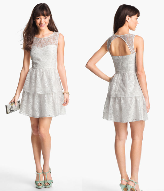 White Rehearsal Dinner Dress