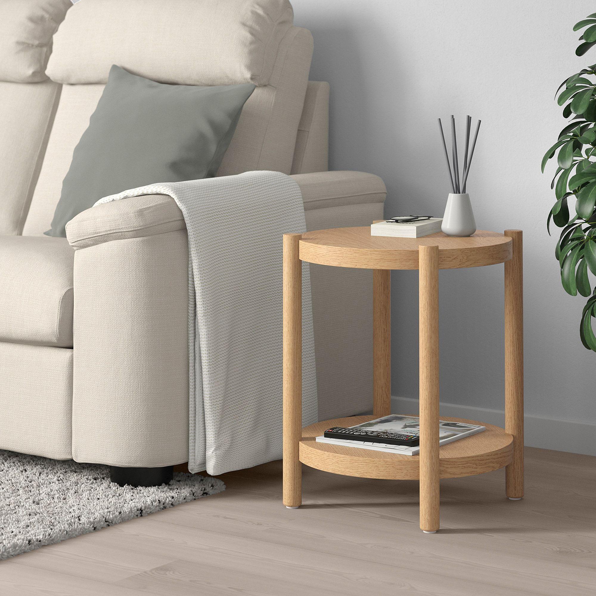 Listerby Dohanyzoasztal Feher Pacolt Tolgy 50 Cm Ikea Oak Side Table White Side Tables Ikea Side Table [ 2000 x 2000 Pixel ]
