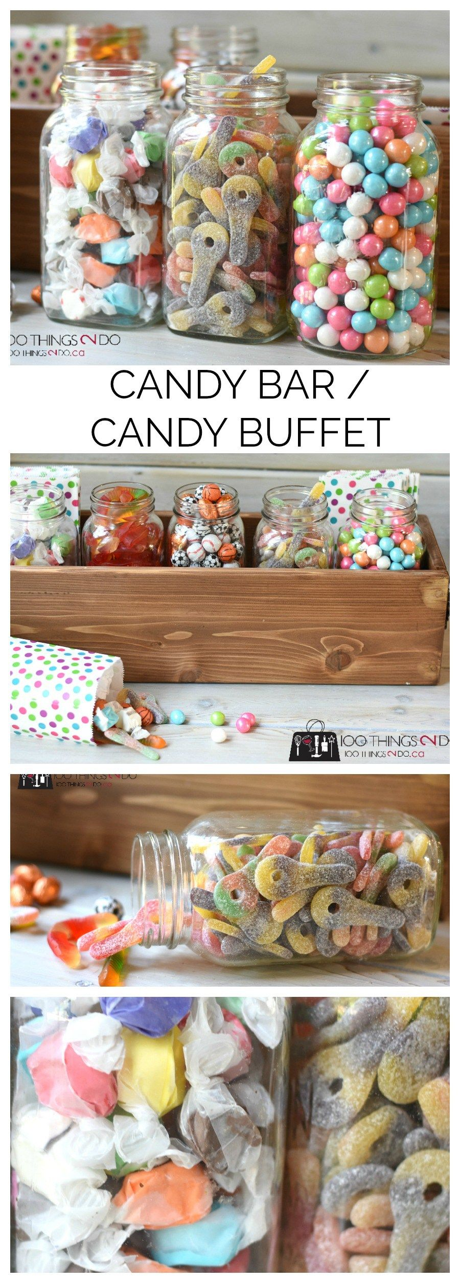candy bar candy buffet f te enfant fille buffet. Black Bedroom Furniture Sets. Home Design Ideas