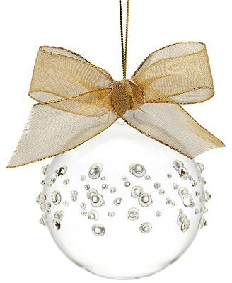 Christmas ornament (Stampin' Up pearls and rhinestones?)
