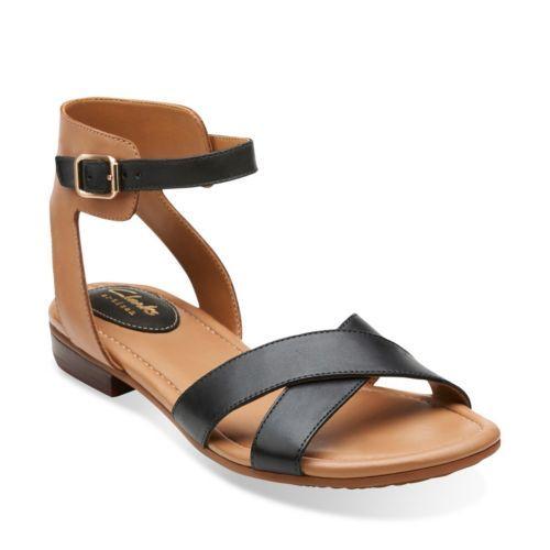Viveca Zeal Black Leather - Womens Medium Width Shoes - Clarks