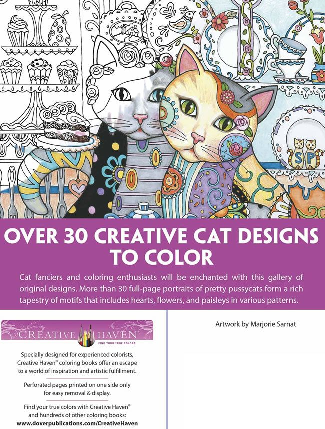 Welcome To Dover Publications Creative Haven Cats Colouring Book