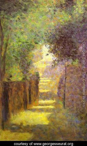 Georges Seurat Painter As Street >> Saint Vincent Street Montmartre Spring 1884 Georges Seurat Www