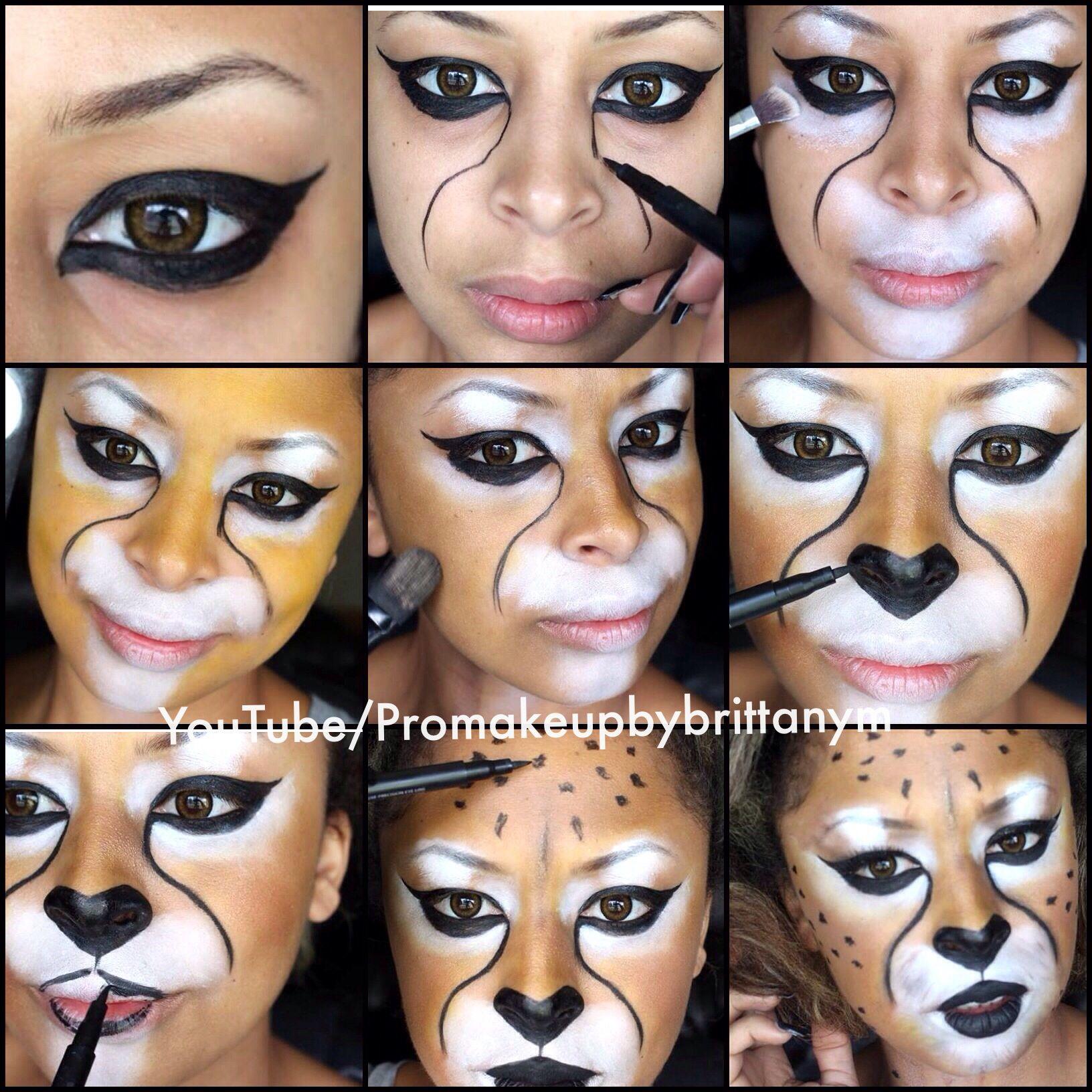 Cheetah Halloween Costume Makeup Tutorial | Makeup inspiration ...