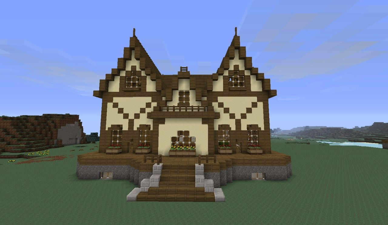 Victorian house 1 minecraft project minecraft for Classic house tutorial