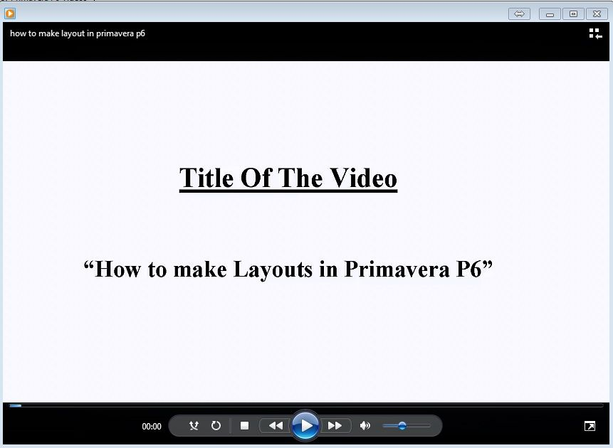 How To Make Layouts In Primavera P6 Planning Engineer How To Make Layout How To Plan