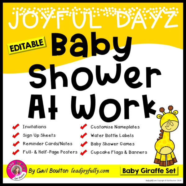 a5db1ff495d JOYFUL DAYZ Baby Shower At Work (Baby Giraffe Set)