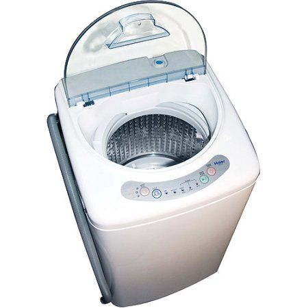 Haier 10 Cubic Foot Portable Washing Machine, White Country Life