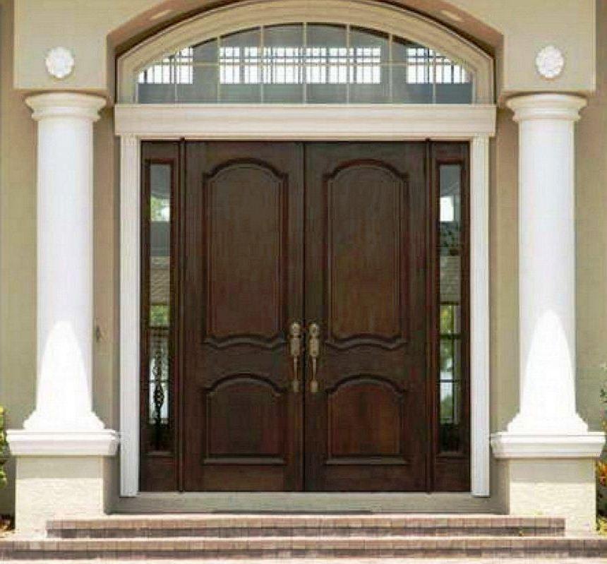 31 Model Daun Pintu Kupu Tarung Terbaru Kayu Jati Lengkung Minimalis Desain Eksterior Minimalis Rumah