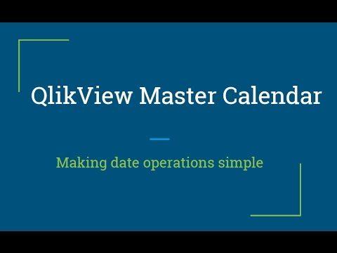 QlikView Tutorial | Creating Master Calendar in QlikView | QlikView