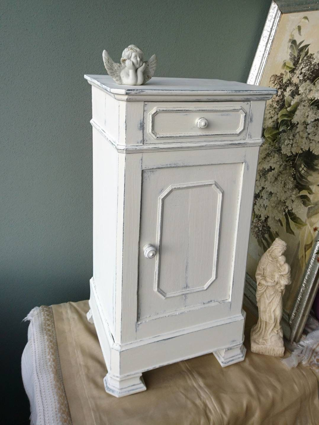 Ancient Small Chest Of Drawers From France At 1896 In Shabby