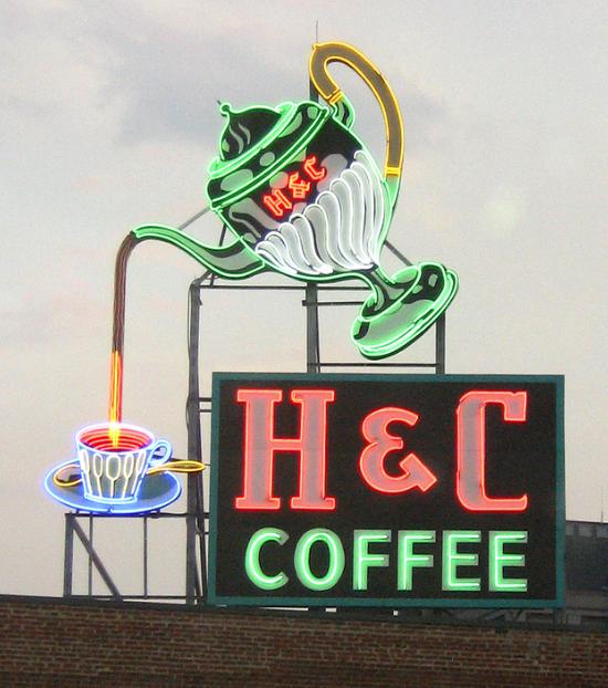 H Amp C Coffee Vintage Coffee Signs Vintage Neon Signs