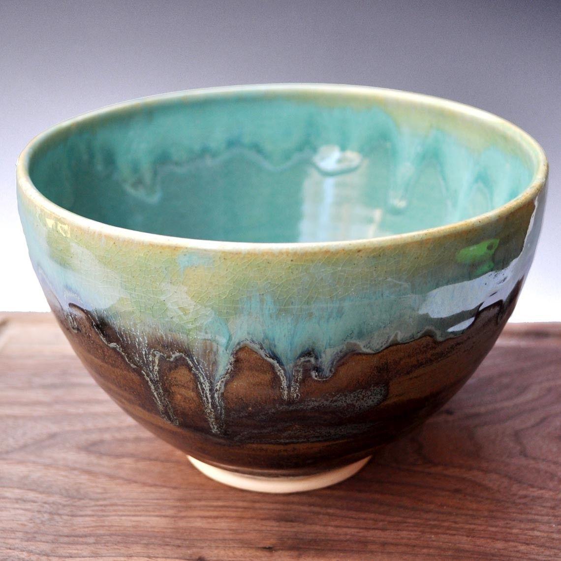 Ceramic bowl noodle bowl handmade pottery bowl farmhouse for Handmade pots design