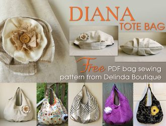 #FREE DIANA Tote Bag Great for Gifting  and Just in time for Holiday giving.  Thanks to YouCanMakeThis.com