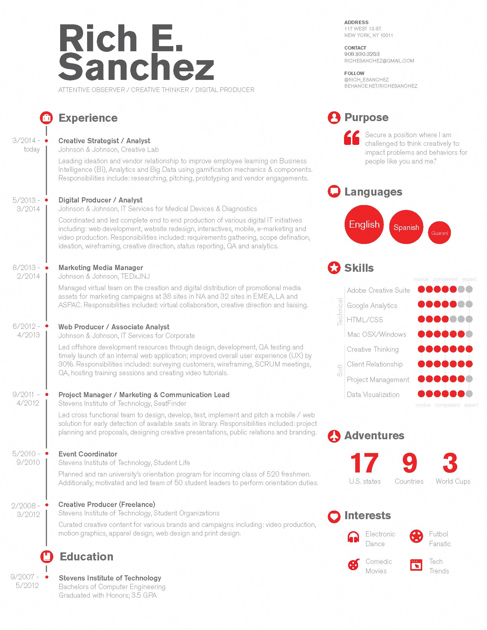 Simple Clean Infographic Timeline Resume Design For Digital Marketing Project Management Or Technology Facing R Gestion De Projets Cv Inspiration Document