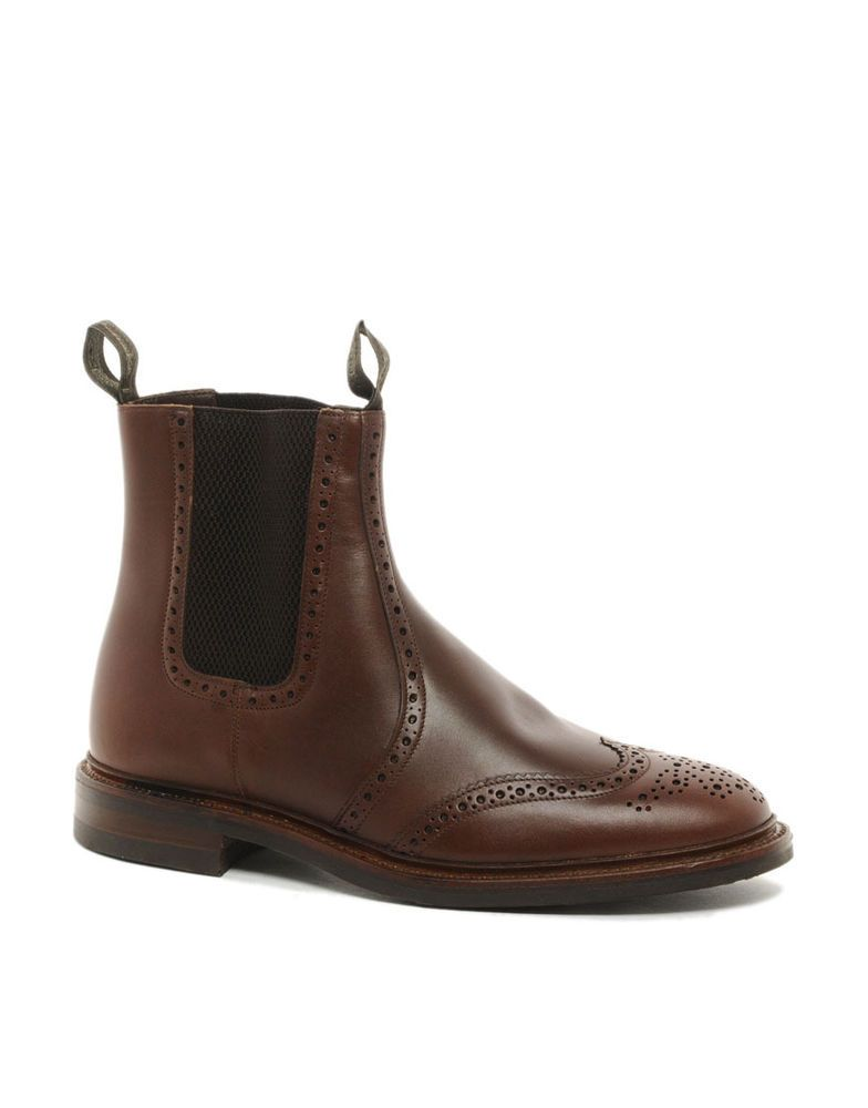 9ff61eb6a75 Mens Loake Brown Brogue Ankle Boots Style - Thirsk US 10 men UK size ...