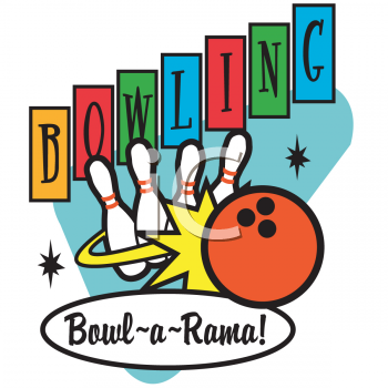 Bowling retro. Clipart outfit