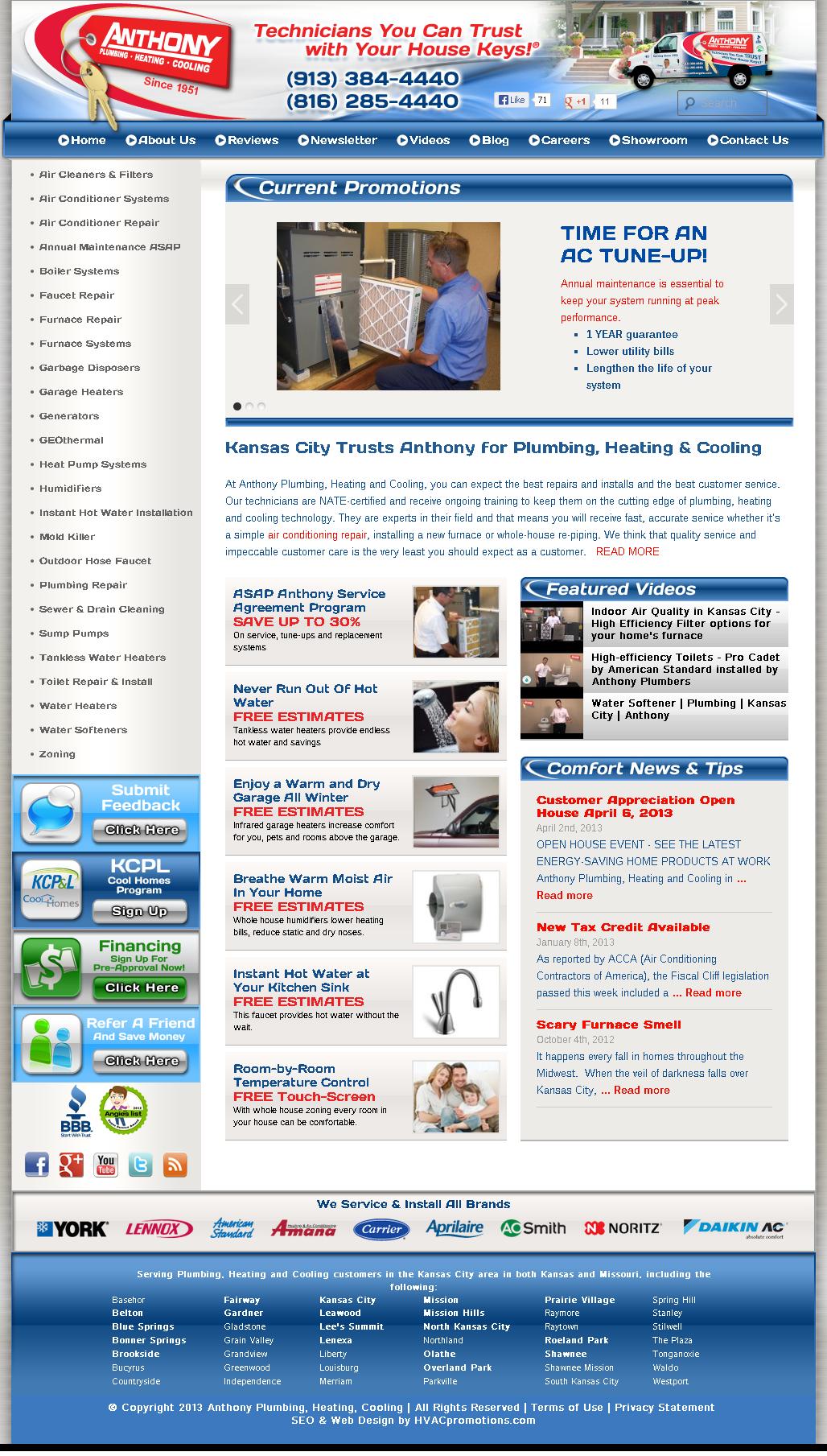 Missouri Hvac Website Design And Lead Generation Services With Lurecreative Com Lurecreative Hvac Web Website Design Air Conditioning Technician Web Design