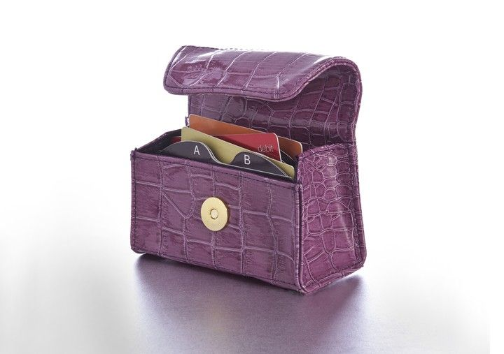 New Plum Perfect Croc Card Cubby, the alphabetized wallet,  - $19.99 Wallet organizer, gift card organizer, coupon organizer.