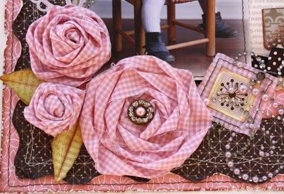 Such a Pretty Mess: Twisted Fabric Blooms (Tutorial)