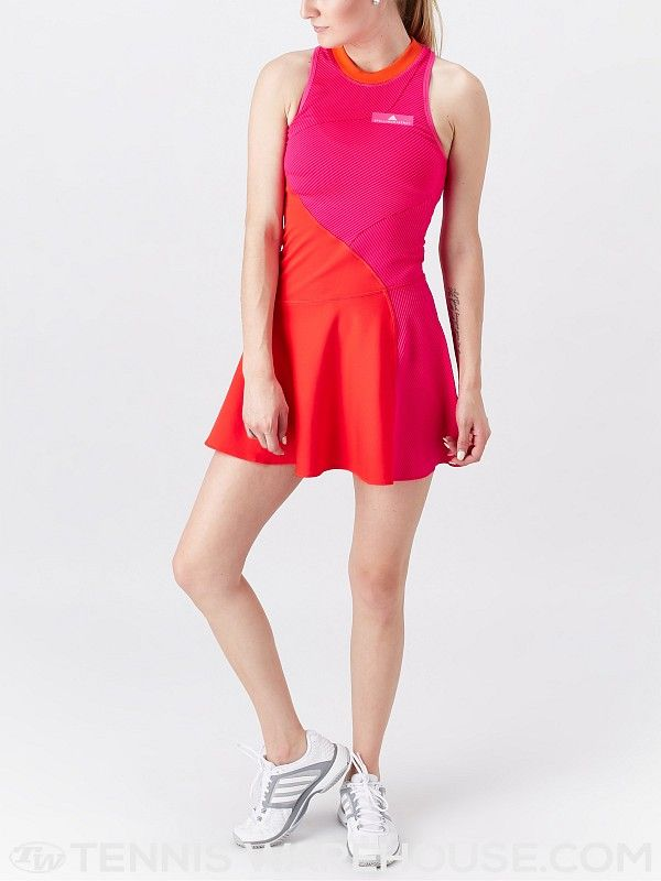 Women S Red Red Tennis Dress Adidas By Stella Mccartney Official Online Store Fw 2019 2020 Tennis Dress Stella Mccartney Adidas Stella Mccartney