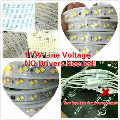 110V LED Strip Light SMD 4040*2 Flexible For IN/Outdoor.NO Driver/needed!!    eBay