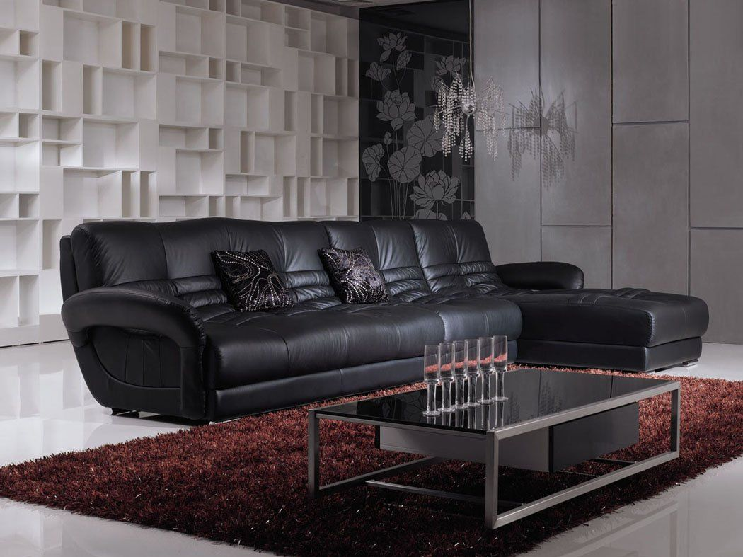 Living Room Design With Black Leather Sofa Captivating Cómo Embellecer Su Living Room Con Muebles De Cuero Negro  Diseño Decorating Design