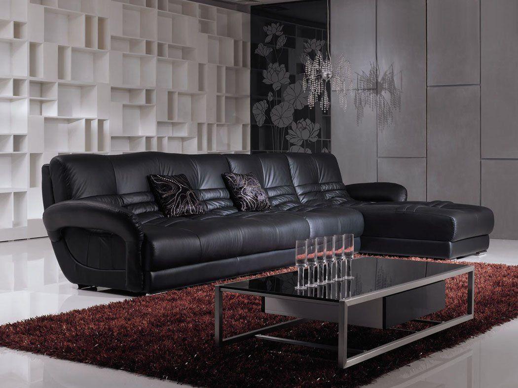 C Mo Embellecer Su Living Room Con Muebles De Cuero Negro Dise O  # Muebles Puro Cuero