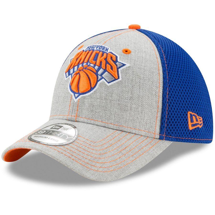 81f31cd31e4 Men s New York Knicks New Era Heathered Gray Neo 2 39THIRTY Flex Hat ...