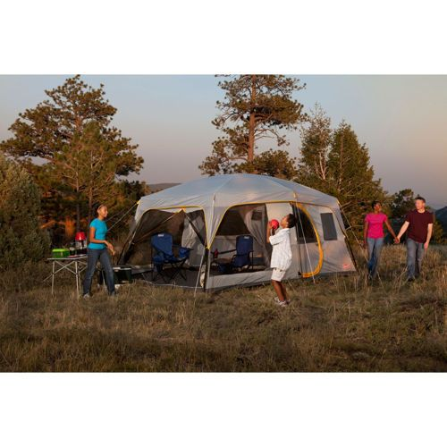 Coleman Weathermaster Ii Screened 10 Person Tent 10 Person Tent Tent Family Tent Camping