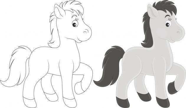 Dibujos de caballos para colorear  TodoSimple  Proyectos que
