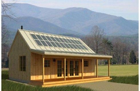 Casa Con Paneles Solares Cabin House Plans Free House Plans Small House Plans