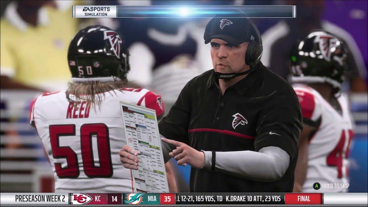 Madden Nfl 19 Franchise Mode Preseason Week 2 Episode 25 Atlanta Falcons Madden Nfl Atlanta Falcons Atlanta