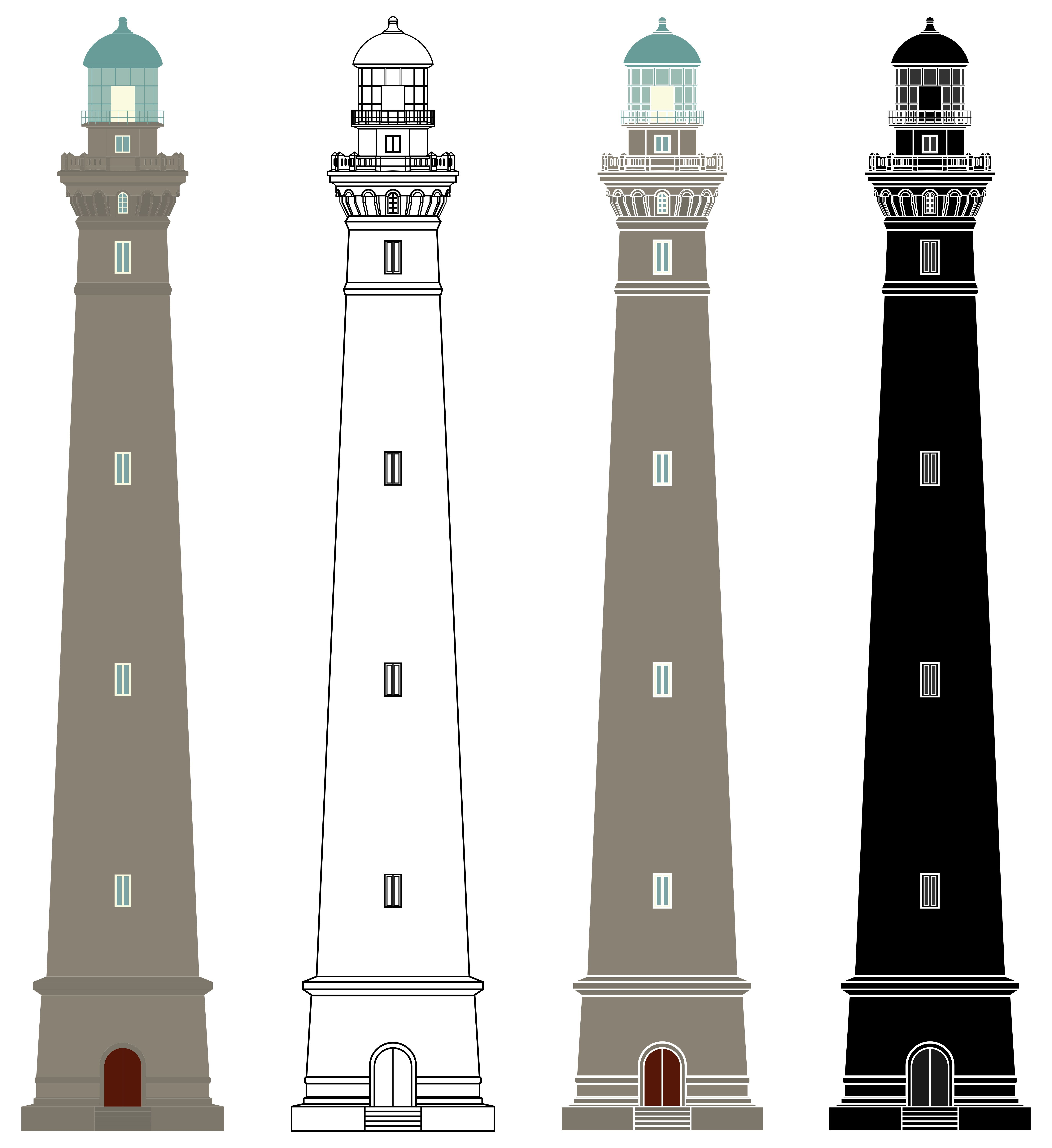 Lighthouses Of Virgin Island In France In 2020 Lighthouse Outline Illustration Lighthouse Drawing