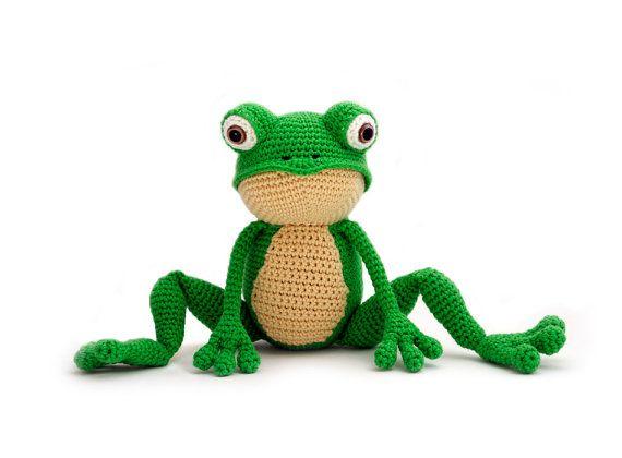 Crochet pattern Frog - amigurumi - instant download pdf | Der frosch ...